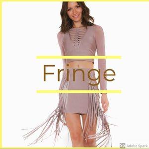 Mini Fringe Bandage Skirt
